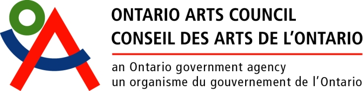 This program is possible through funding from the Ontario Arts Council.